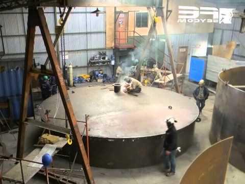 Fabricaci n traslado y montaje de estanque diesel youtube for Fabricacion de estanques