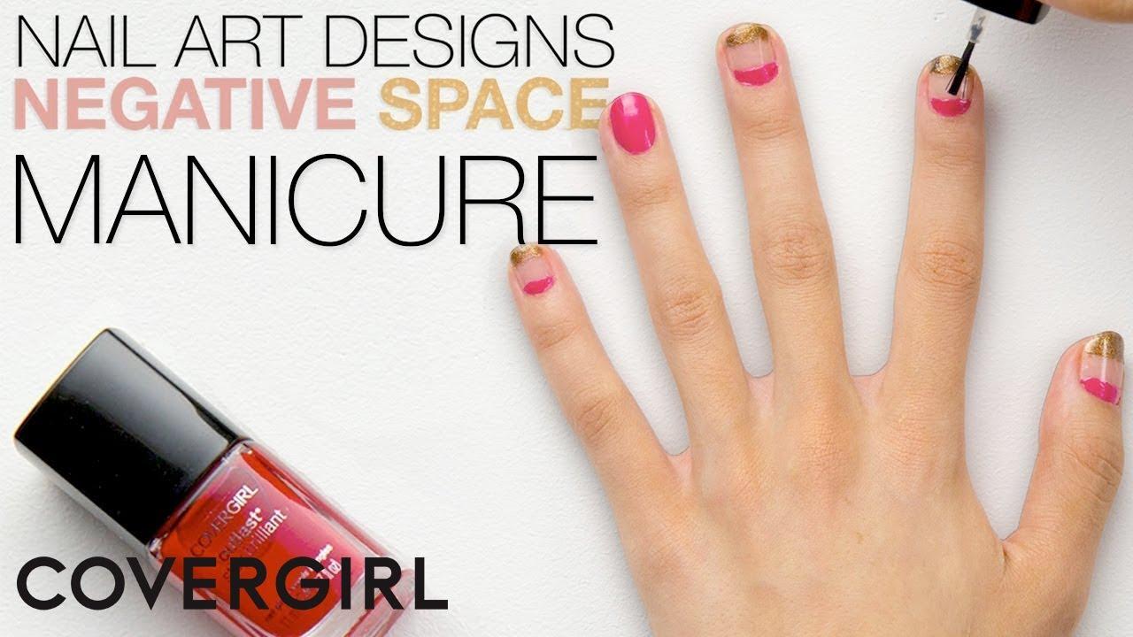 simple nail art design negative