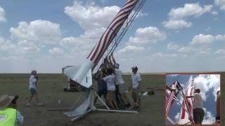 Woody Hoburg's Flag Rocket N-motor Cluster - LDRS 25 - High Power Rocket