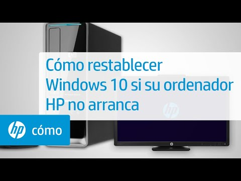 Cómo restablecer Windows 10 si su ordenador HP no arranca | HP Computers | HP