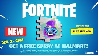 How to Get Free Boogie in Game Walmart Spray After Sundays Event Fortnite