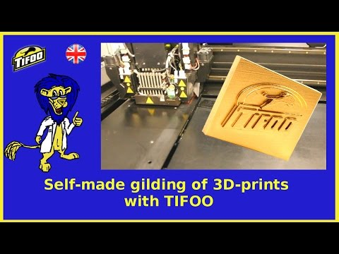 DIY gold-plating of 3D-prints with Tifoo