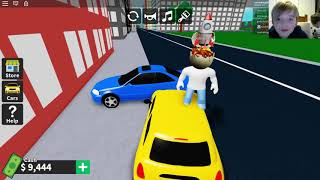 Flipping a car in ROBLOX VEHICLE TYCOON
