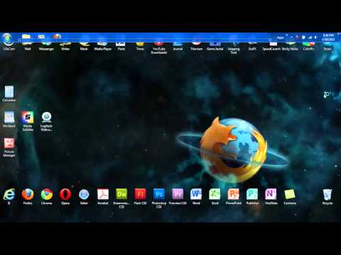 How To Move The Taskbar Windows XP/Vista/7