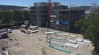 Endspurt: der SySS-Neubau im Zeitraffer, Februar 2016 bis Januar 2017
