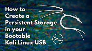 Önyükleme Kali Linux bir USB Kalıcı bir Bölüm Oluşturmak için nasıl