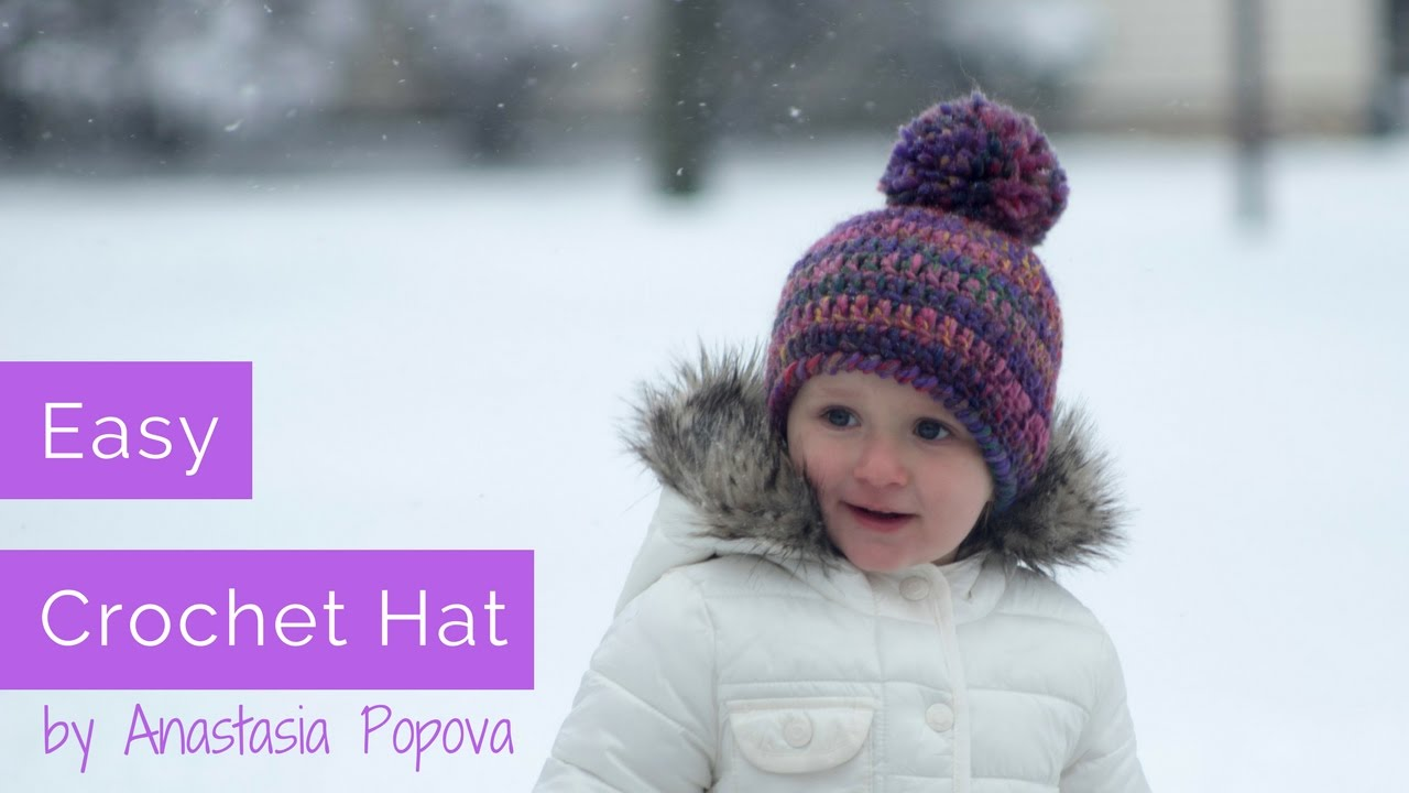 Easy To Crochet Toddler Hat - How To Tutorial By Anastasia Popova ... a4c71bf6762