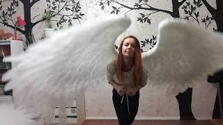 Белые крылья ангела для фотосессий #ЛисьяМастерская