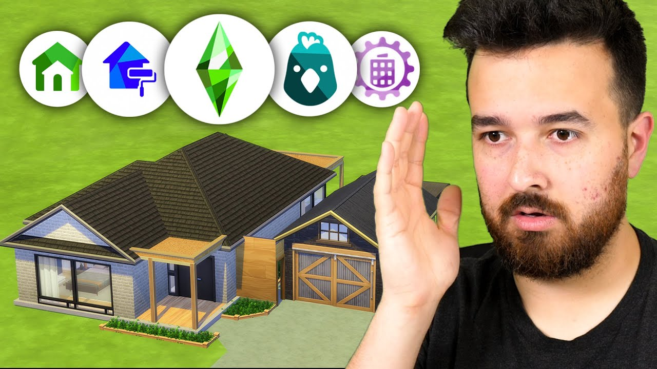 I can only use 1 item from each pack (Sims Build Challenge)