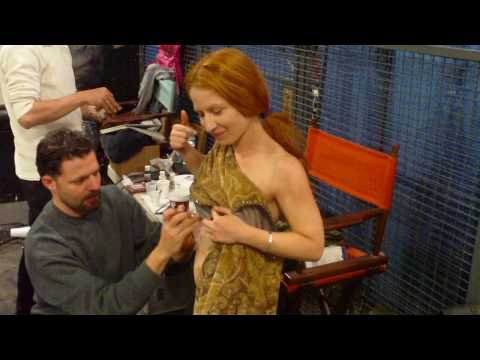 BTS Legend of the Red Reaper - Tara gets her ribs on