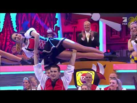 Lena MeyerLandrut dances on TV show  TvTotal Prunksitzung