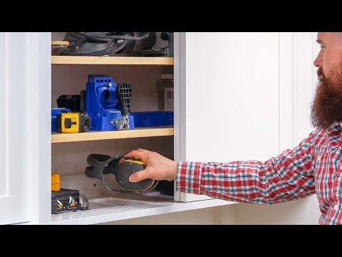 How to Install DIY Workshop Storage Cabinets
