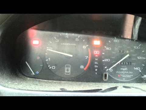 96 Honda accord oil pressure light