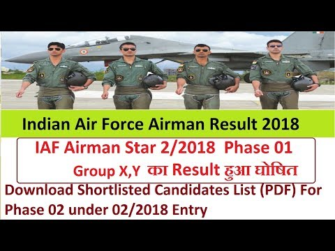 indian air force result 2019