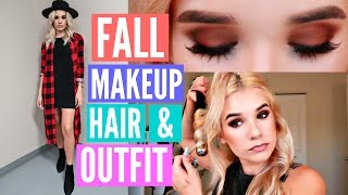 ON TREND FALL Makeup, Hair, & Outfit! GET READY WITH ME | Sylvia Gani