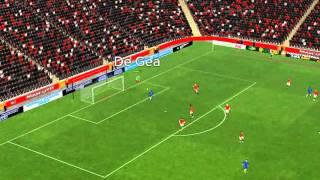 Man Utd mot Leicester - 19 minutter