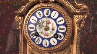 Japy Freres Blue Sevres Porcelain And Gilt Metal Boudoir Clock Hd