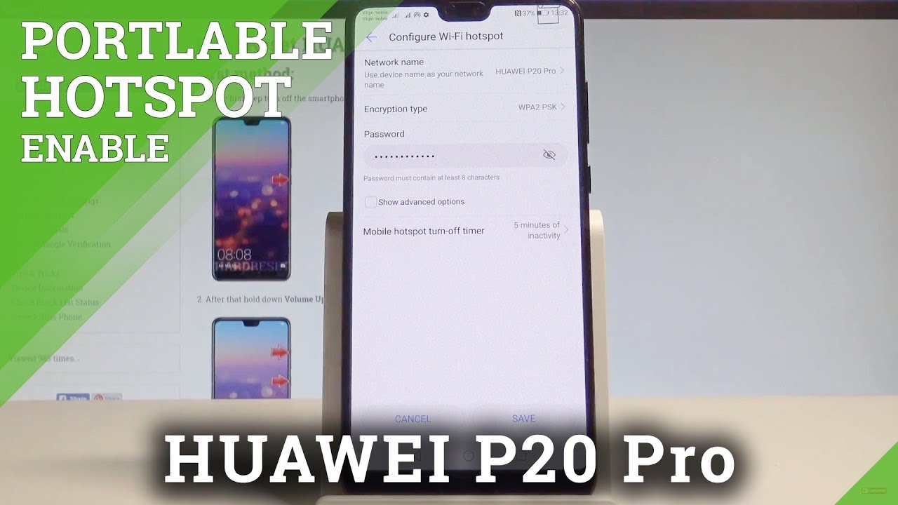 How to Enable Portable Hotspot on HUAWEI P20 Pro - Wi-Fi Share  |HardReset Info