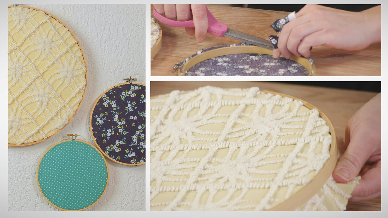 How To Make Easy Embroidery Hoop Nursery Decorations