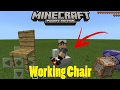 How To Make A Working Chair In Mcpe 1.0.7 Command Block Creation