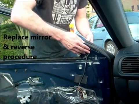 Wing Mirror Side Mirror Change Volvo S40 V40 Youtube