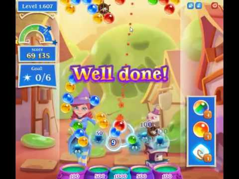 Bubble Witch Saga 2 Level 1607 - NO BOOSTERS