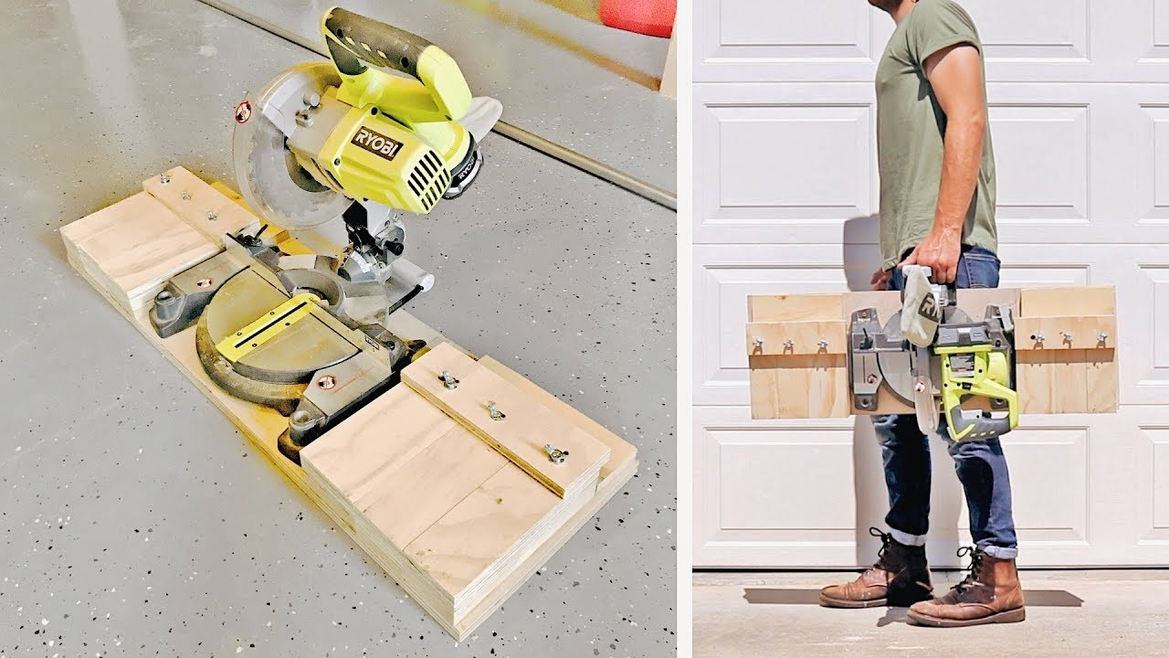 Diy Portable Miter Saw Stand Station Shop Projects