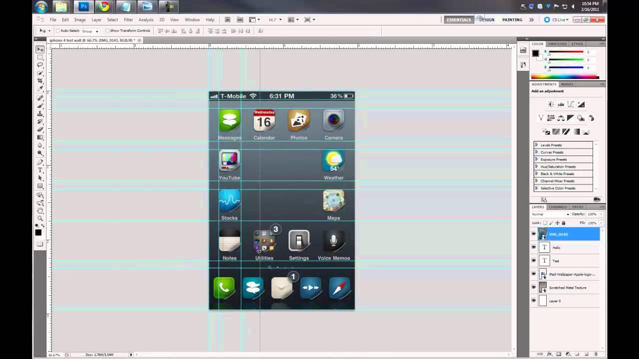 Make IPhone 4 Wallpaper Using Photoshop Gimp