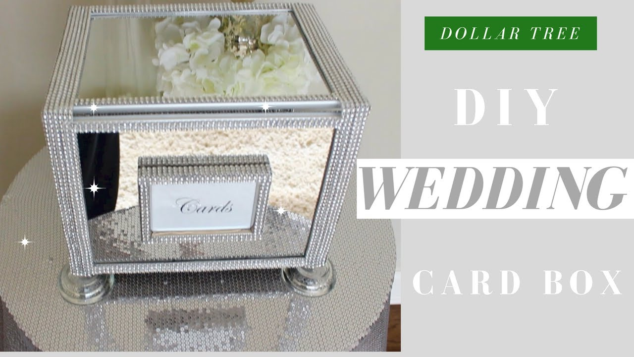 DIY Wedding Card Box | Dollar Tree Bling Wedding Card Box - YouTube
