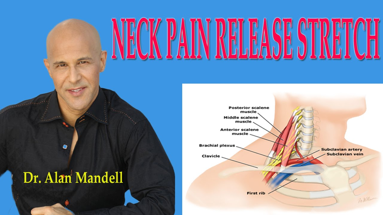 neck pain release stretch (how to decompress pinched nerve) - dr