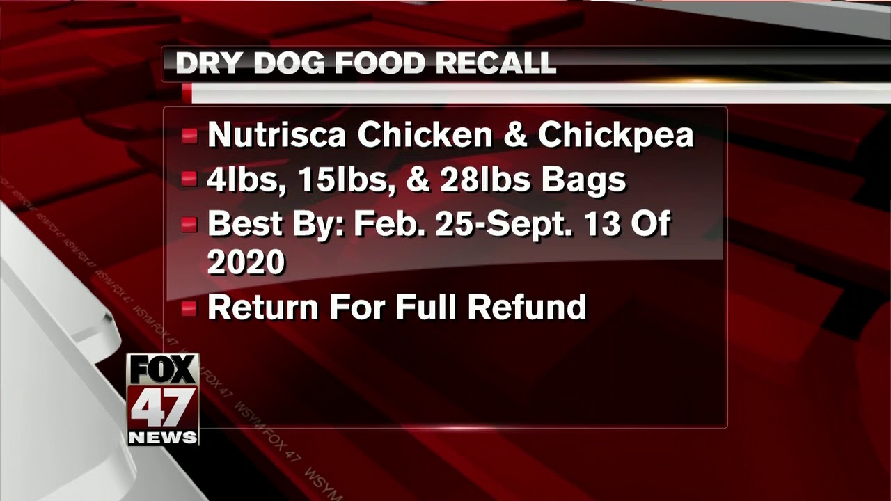 Dog Food Recall List 2020.Two Types Of Dry Dog Food Recalled