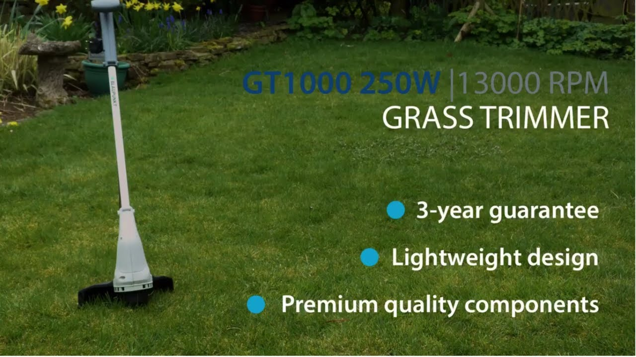 Blaupunkt Garden Tools GT1000 250W Electric Grass Trimmer YouTube