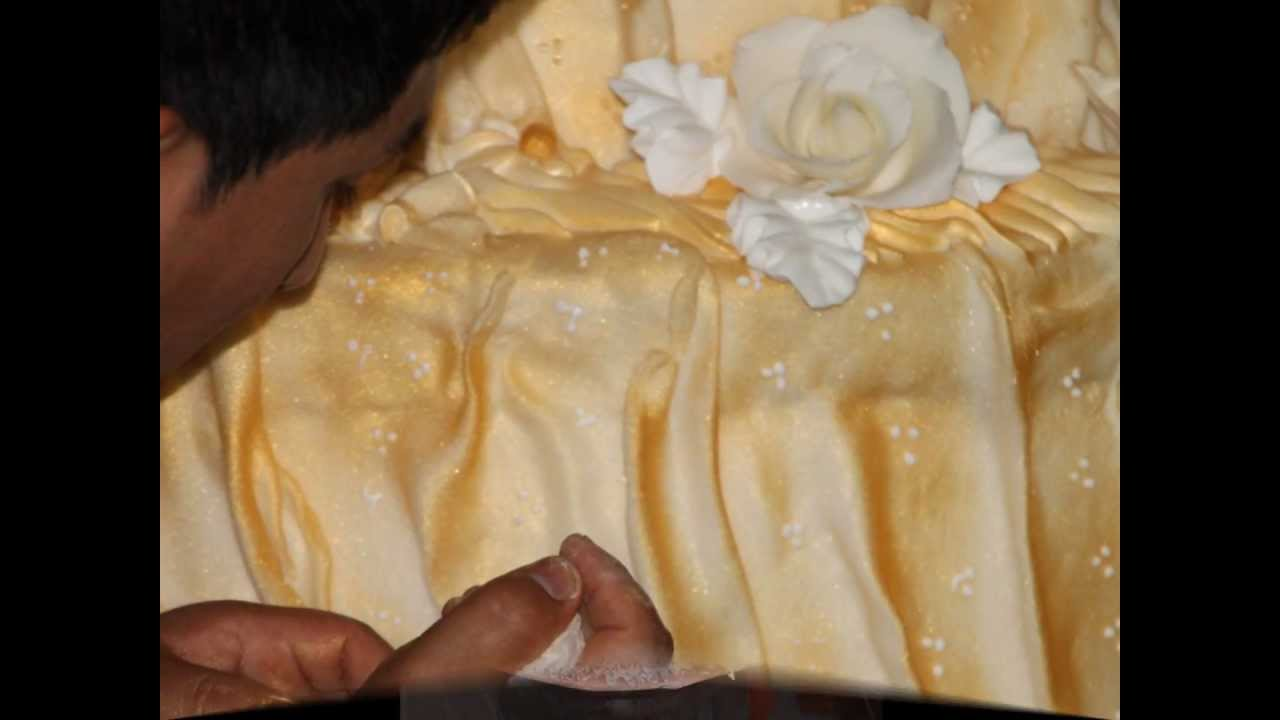 Torta de matrimonio decoracion con crema chantilly youtube - Chantilly telas ...