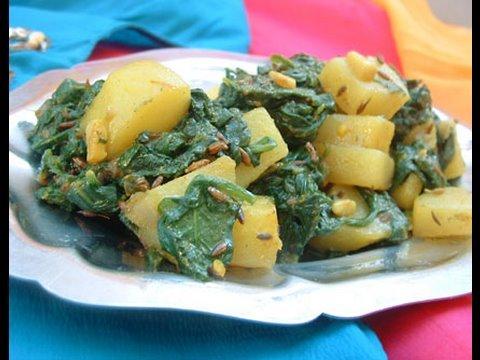 recette-indienne-aloo-palak-|-pommes-de-terre-Épinards-₪-pankaj-sharma