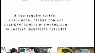 How To Get  A Refund From VehicleHistoryLookup.com