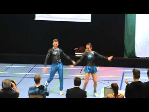 Ben Stassen & Bianca Jacobs, final footwork, Landesmeisterschaft Siegburg 08.11.2014