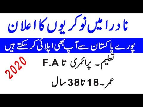 New Latest Nadra Jobs 2020 For All Pakistan | Nadra Jobs 2019