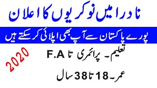 New latest Nadra jobs 2019 For All Pakistan  Nadra jobs 2019