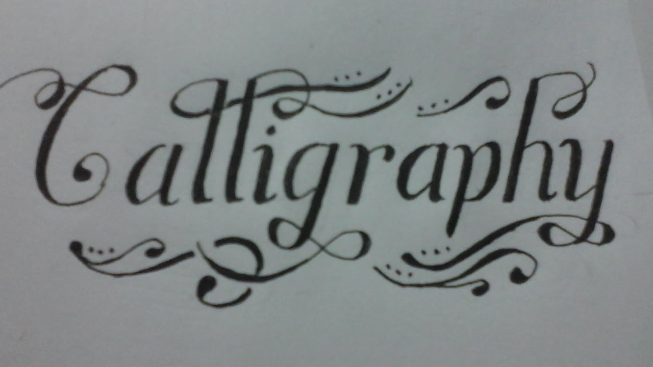 calligraphy with normal pen , calligraphy handwriting
