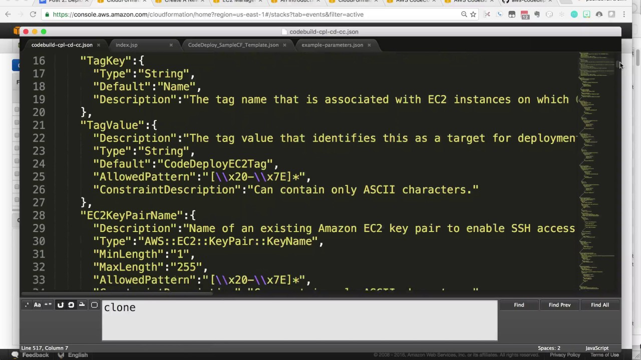 CodeBuild, CodePipeline, CodeDeploy, CodeCommit in