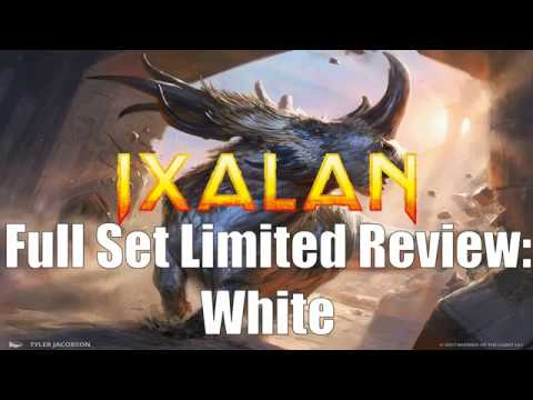 Ixalan Full Set Limited Review:  White