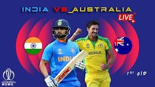 LIVE🔴- INDIA VS AUSTRALIA LIVE 🔴// 1st ODI  //  LIVE SCORE // SYDNEY TOUR