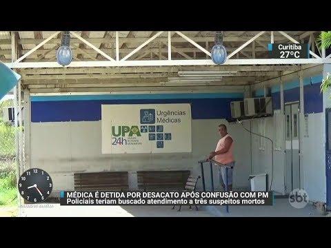 Médica é presa no RJ após não atender suspeitos baleados | SBT Brasil (18/10/17)