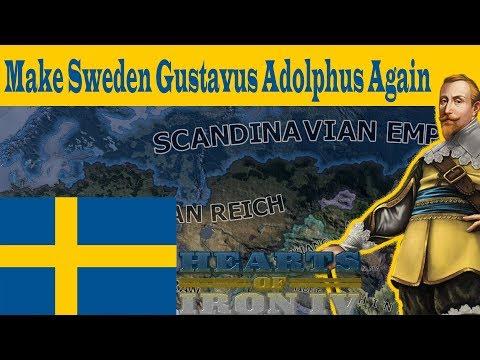 HOI4- MAKE SWEDEN GUSTAVUS ADOLPHUS AGAIN!! (in less than 8 minutes)