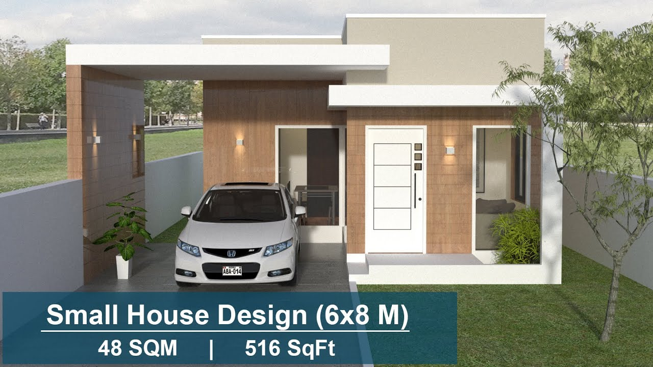 Small House Design 6x8 Meters Car Parking 2 Bedroom Youtube