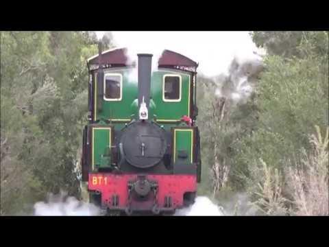 Eine Fahrt auf der Bennett Brook Railway