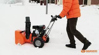 обзор DAEWOO DASC 7080 подметальная машина и роторный снегоуборщик