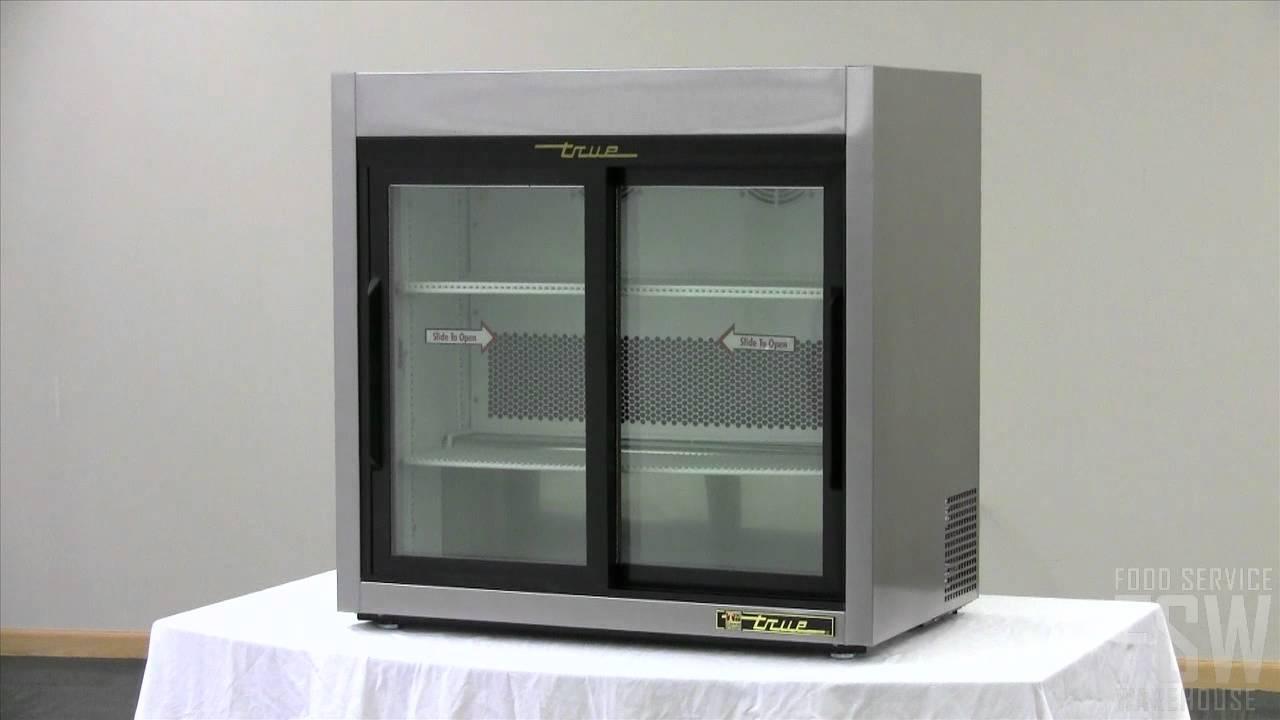 Glass Door Home Refrigerator True Slide Glass Door Reach In Countertop Refrigerator Video Tsd