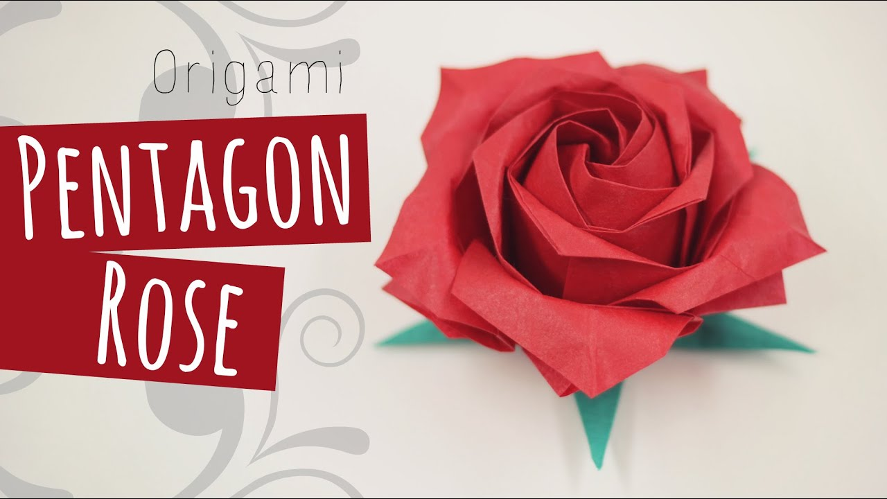 origami flower diagram in english leg arteries and veins pentagon rose naomiki sato 折り紙バラ youtube