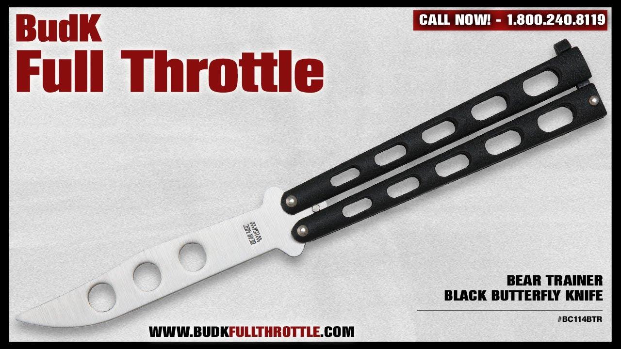 7612e17ef43d1 Bear Trainer Black Butterfly Knife